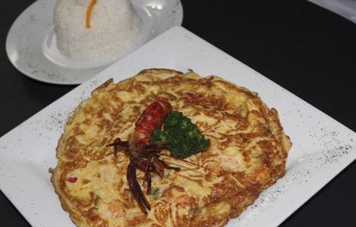 Tortilla de camarones Lima